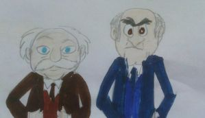 Statler and Waldorf by MIXTOONS