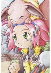 Michael and Eevee by Pichu-Chan