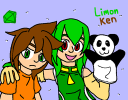 Ken, Limon and panda by mitchika2