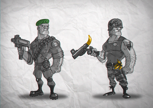 Soldiers by Rodendron