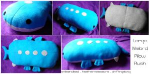 Large Wailord Pillow Plush by SmileAndLead