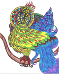 Colorful bird :'3 by RosetteValleire