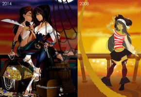 Aye for an Aye before and after by Asher-Bee