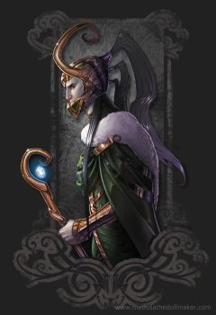 Loki: Welovefine t-shirt contest design by Medusa-Dollmaker