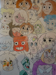 Steven Universe Characters by Woouu