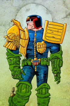 Judge Dredd couleurs by louboumian