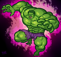 COMMISSION: Hulk by Cubesona