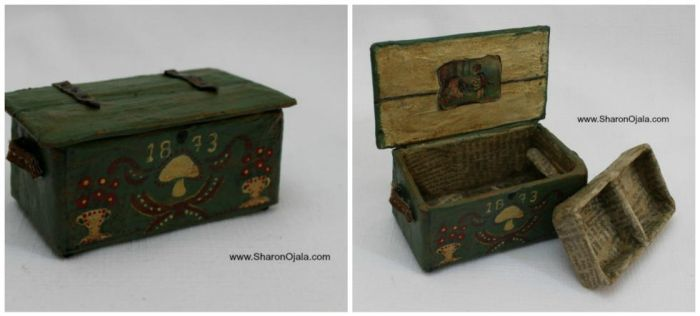 Dollhouse Trunk Made For A Gnome by sojala