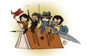 The musketeers by LadySlyOfCastelmore