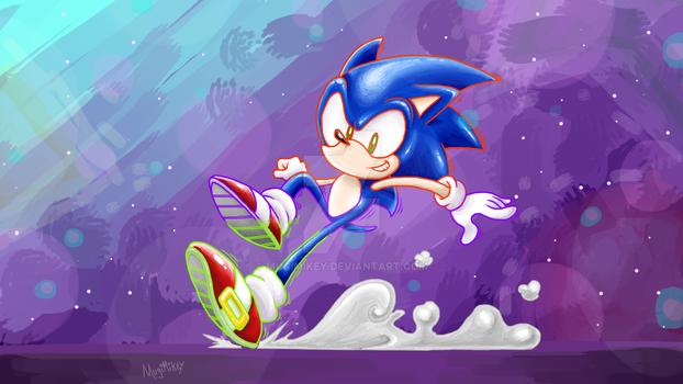 Sonic - Screeching to a Halt by MugiMikey