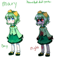 Mary the haunted doll youkai by emilyldraws0303