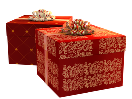 Christmas Gift Boxes PNG Stock by Roy3D