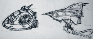 Sketchbook Dump: Ships 1 by RougeSpark