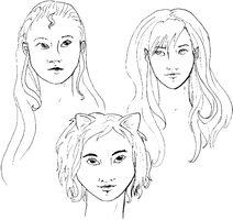 DCMW - face sketches by ponetium