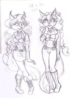 first 2017 sketch- Miss Carmelita x 2 by Moon-Shyne