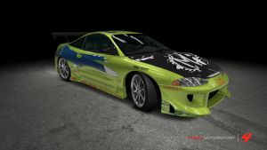 Mitsubishi Eclipse GSX - The Fast and the Furious by OutcastOne