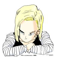 Android 18 Drawing by Andy721