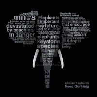 Typographic Elephant by Lish-55