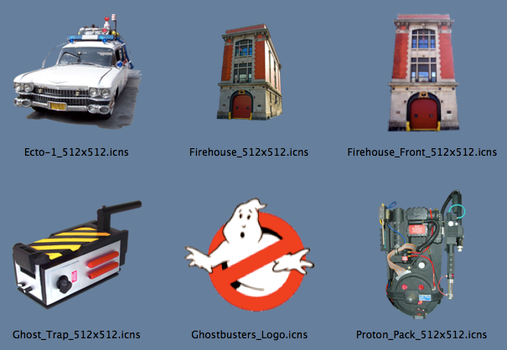 Ghostbusters Icons for Mac OS by tsilvers