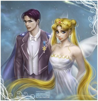 King Endymion + Neo Queen Serenity by daekazu
