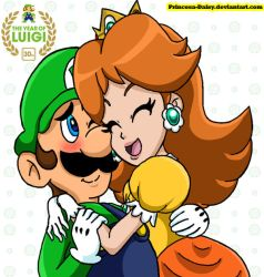 Luigi and Daisy - Year of Luigi by Princesa-Daisy