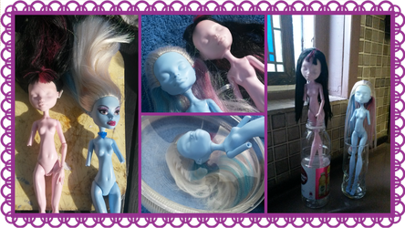 My first doll repaint (Part I: The Preparation) by xGothCinderella