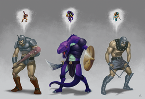 Golden Axe II Villains by GidraAttacks
