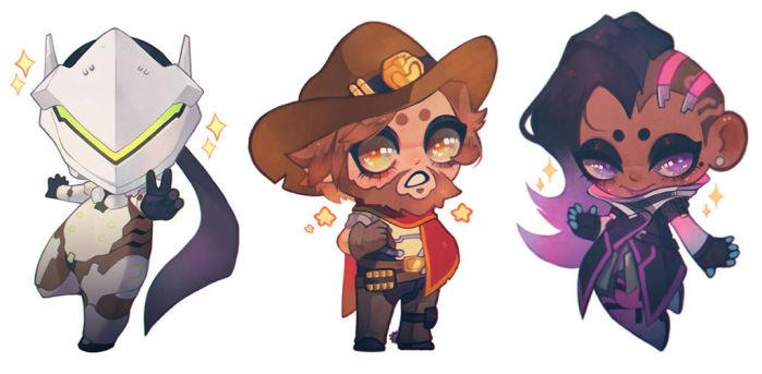 3 lil DPS bitches by YareBear