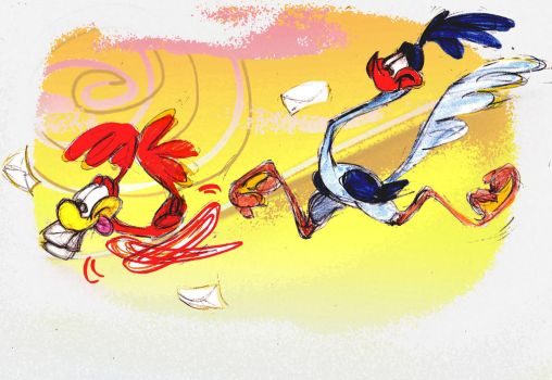 Faster than the Road Runner by JuneDuck21