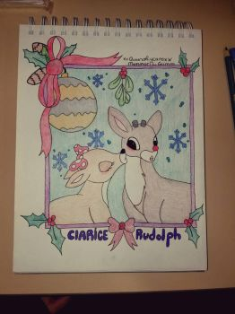 Clarice and Rudolph christmas card by xXQueenofLycansxX