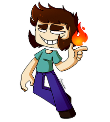:[Commission] Pixel Herobrine: by Grimmixx