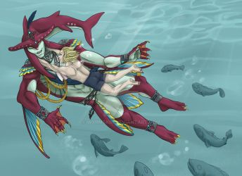 super platonic swimming time by Wyrmskin