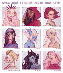 Draw Your Friends' OCs in Your Style by mioree-art