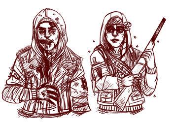 L4D - Delsin and Eugene (Ask) by GreaserDemon
