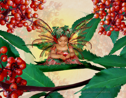 Elderberry Fairy Avely by SpiritOnParole