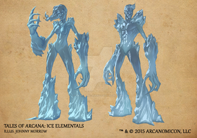 Tales of Arcana 1st Set - Ice Elementals by TalesofArcanaRPG