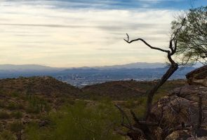 Downtown Phoenix from South Mountain by LyndasDaughter