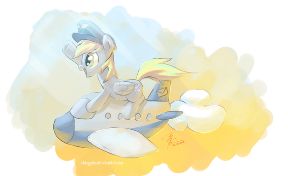 Make way for Derpy Air Mail! by Chingilin