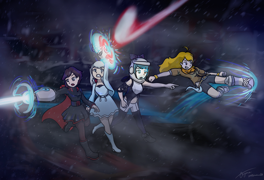 RWBY x LAZER TEAM by geek96boolean10