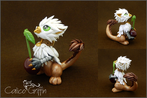 Ain, the griffin cherry guardian by CalicoGriffin