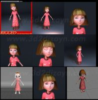 Cartoon 3d character design by eydii