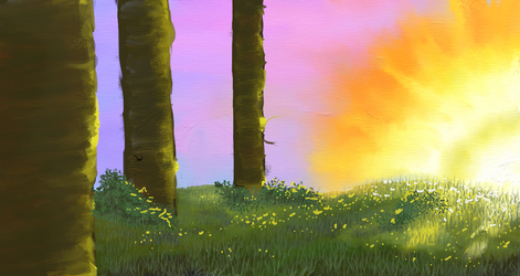 Forest Edge (free background) by shiverwings