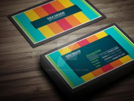 Colorful Business card by ashanur