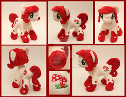 Custom handmade My Little Pony OC plush - Scarlet by SugarcubeCherry