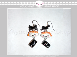 Japan Life - Earrings Sushi Time by AyumiDesign