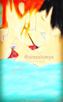 Kiss Luffy x Nami by Arazakuvya
