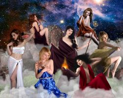 Greek Mythology: Pleiades by DavienOrion