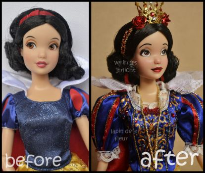 repainted ooak classic snow white doll. by verirrtesIrrlicht