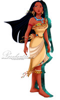 Pocahontas's new outfit by selinmarsou