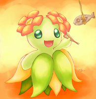 Bellossom and a croaker
